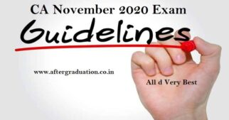 ICAI Issues CA November 2020 Exam Guidelines for Students