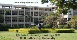 107 Indian Varsities Ranked in QS Asia University Rankings 2021, NUS - Asia's Best, IITB India's Top University Announced
